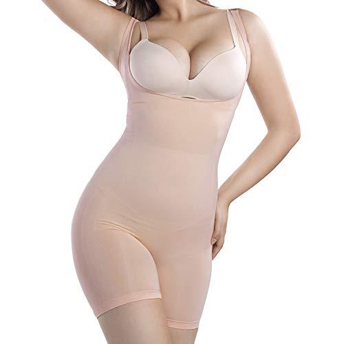 +MD Body Faja Reductora Mujer Abdomen cómodo y Ligero Corsé Faja de Buena Figura sin Costuras NudeM