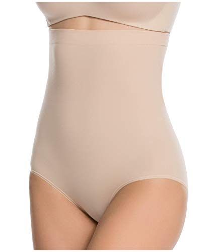 Spanx Higher Power Panties Ropa Interior, Beige, XL para Mujer