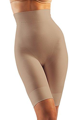 Oakeysì MIK04 (Carne, L) Faja Pantalones Cortos contenedora con Cintura Alta Hecha con Hilo lácteo modeladora con effecto Push-up