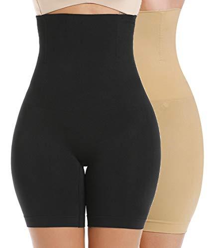 MISS MOLY Mujer Faja Pantalón Cintura Alta Invisible Shapewear 4 Steel Bones Body Shaper Interior Pantalones Moldeadores Fajas Reductoras Cortos Bragas Lencería Braguita