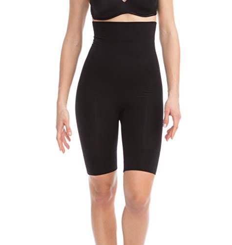 Farmacell Shape 603 (Negro, M) Faja Pantalon Corto de Microfibra, contenitivo y Moldeador con Talle Alto
