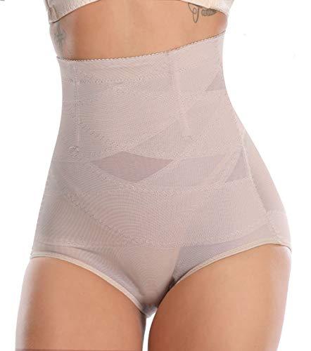 MISS MOLY Bragas Fajas Reductoras Cintura Alta Shapewear Braguitas Moldeadora Levanta Glúteo Vientre Plano Ropa Interior con Elástico Cruzado Malla para Mujer