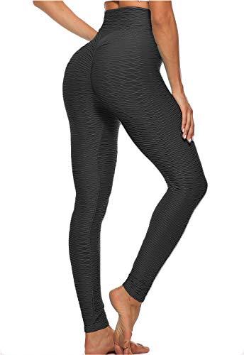 FITTOO Mallas Leggings Mujer Pantalones Deportivos oga Alta Cintura Elásticos Transpirables Negro M
