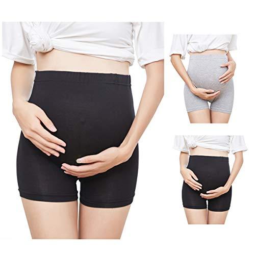 FEOYA Braguita de premamá de Cintura Alta para Maternidad Embarazada Premamá Leggins Pantalones Cortos Mujer Soporte Abdominal Faja de Maternidad Ropa Interior