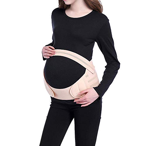 Viedouce Cinturón de Maternidad,Faja de Embarazo/Premamá,Correa Embarazadas,Apoyo Durante Embarazo,Banda Abdomen/Cintura/Espalda/Pélvico/Vientre,Respirable Ajustable Pélvica Faja Soporte Posterior