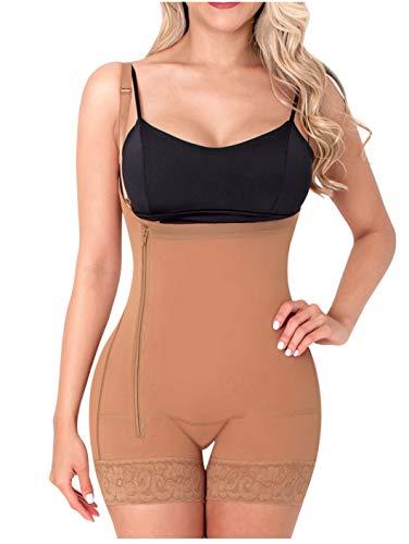 Sonryse 046 Fajas Colombianas Moldeadoras Postparto Reductora de Abdomen y Cintura Post Cirugia para Mujer Mocha XL