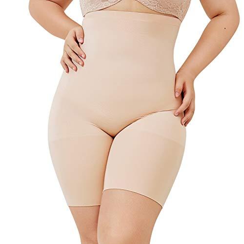 DELIMIRA Faja Reductora Ropa Interior Cintura Alta Pantalones Moldeadores para Mujer Beige 48-50