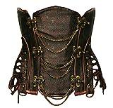Bslingerie® Corsé Steampunk para mujer marrón XL