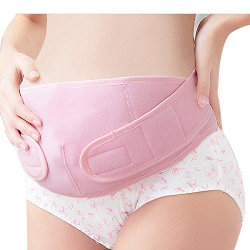 Feoya Faja Prenatal de Premamá Cinturón para Mujeres Embarazadas de Maternidad Vientre Banda Apoyo - Rosa Talla XL