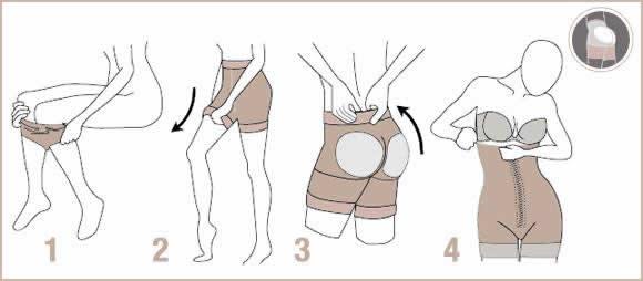 Como ponerse una faja reductora tipo pantalón